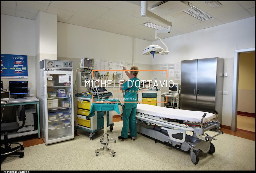 Sala visita del pronto soccorso dell' Ospedale S.Maria di Misercordia Albenga (SV) .22 agosto 2011