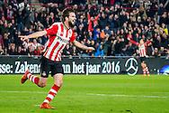 EINDHOVEN, PSV - Excelsior, voetbal, Eredivisie seizoen 2015-2016, 17-10-2015, Philips Stadion, PSV speler Davy Propper heeft de 1-0 gescoord.