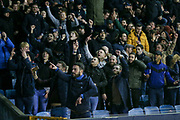 Millwall fans taunt Everton fans after winning during the The FA Cup fourth round match between Millwall and Everton at The Den, London, England on 26 January 2019.