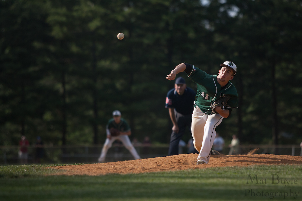 Jason Fox  pitches during the  sixth inning at the sectional final at Haddonfield.