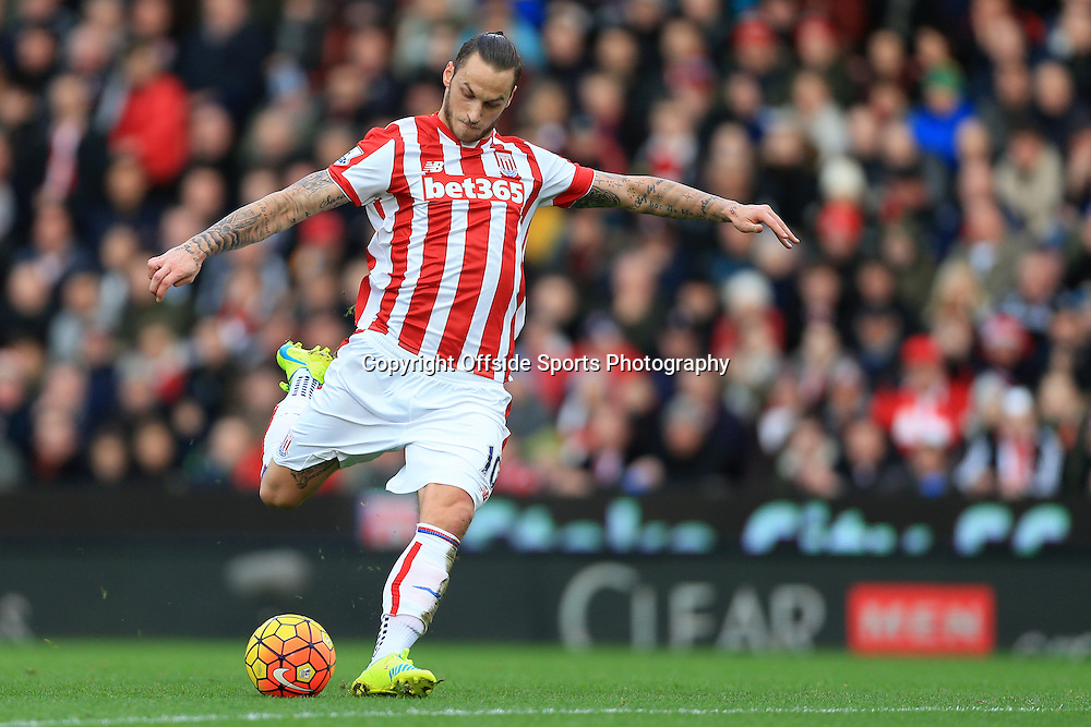 26th December 2015 - Barclays Premier League - Stoke City v Manchester United - Marko Arnautovic of Stoke scores their 2nd goal - Photo: Simon Stacpoole / Offside.