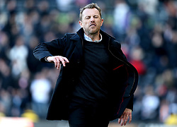 Derby County manager Gary Rowett looks angry - Mandatory by-line: Robbie Stephenson/JMP - 17/04/2017 - FOOTBALL - Pride Park Stadium - Derby, England - Derby County v Huddersfield Town - Sky Bet Championship