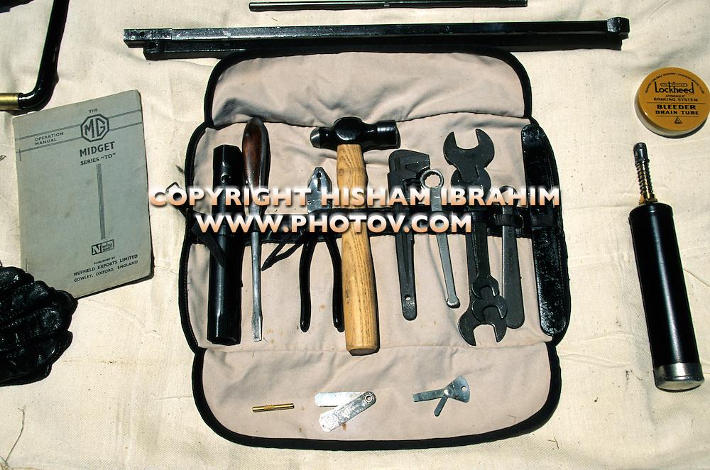 MG Antique Classic British Car original tools
