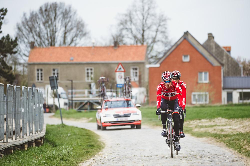 Jurgen Roelandts trains on the parcours ahead of the Ronde van Vlaanderen.  Photo: Iri Greco / BrakeThrough Media | www.brakethroughmedia.com