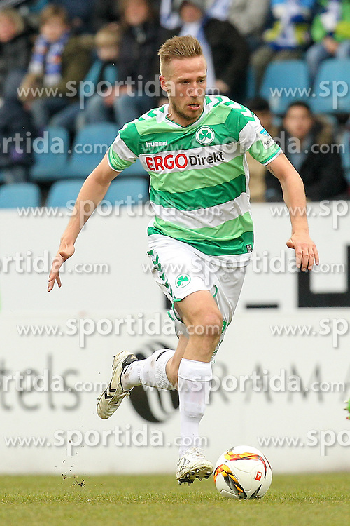 20.03.2016, Rewirpower Stadion, Bochum, GER, 2. FBL, VfL Bochum vs SpVgg Greuther Fuerth, 27. Runde, im Bild Marco Stiepermann (#23, SpVgg. Greuther Fuerth) // during the 2nd German Bundesliga 27th round match between VfL Bochum and SpVgg Greuther Fuerth at the Rewirpower Stadion in Bochum, Germany on 2016/03/20. EXPA Pictures &copy; 2016, PhotoCredit: EXPA/ Eibner-Pressefoto/ Deutzmann<br /> <br /> *****ATTENTION - OUT of GER*****