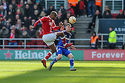 Bristol City defender, Mark Little (2) clears the ball during the Sky Bet Championship match between Bristol City and Cardiff City at Ashton Gate, Bristol, England on 5 March 2016. Photo by Shane Healey.