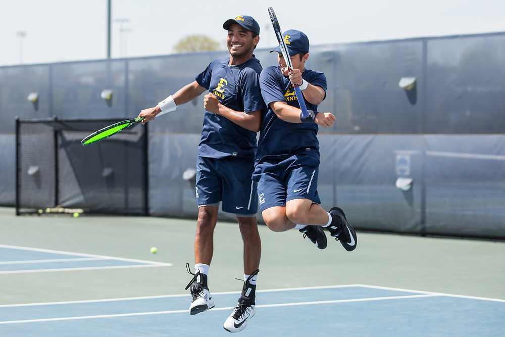 April 14, 2017 - Johnson City, Tennessee - Dave Mullins Tennis Complex: Diego Nunez, Robert Herrera<br /> <br />  Image Credit: Dakota Hamilton/ETSU