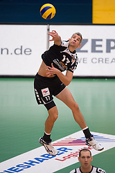 02-11-2014 GER: VfB Friedrichshafen - Berlin Recycling Volleys, Friedrichshafen<br /> Rob / Johannes Bontje (#17 Berlin) <br /> <br /> ***NETHERLANDS ONLY***