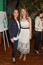 Left to right, NATACHA TANNOUS and ANNA GRACE-DAVIDSON at a tea party to launch Grace Guru held at Sketch, 9 Conduit Street, London on 17th June 2015.