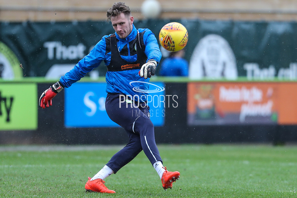 Forest Green Rovers goalkeeper Bradley Collins(1) warming up during the EFL Sky Bet League 2 match between Forest Green Rovers and Coventry City at the New Lawn, Forest Green, United Kingdom on 3 February 2018. Picture by Shane Healey.