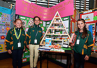 20 Aug 2016: U11 Project team from Kerry. l-r; Mikaela Huggard, 10, Holly Galvin, 10 and Maddie Courtney, 10.   2016 Community Games National Festival 2016.  Athlone Institute of Technology, Athlone, Co. Westmeath. Picture: Caroline Quinn