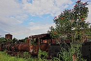 Rusty train in Guaos, Cienfuegos Province, Cuba.