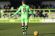 Forest Green Rovers Dayle Grubb(8) during the EFL Sky Bet League 2 match between Forest Green Rovers and Crawley Town at the New Lawn, Forest Green, United Kingdom on 24 February 2018. Picture by Shane Healey.
