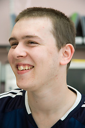 Portrait of Entry 2 Employment student smiling; Sycamore Centre Nottingham, ,