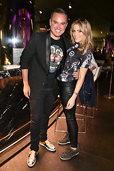 Nick Ede and Olivia Cox at the STK Ibiza themed brunch party at STK London, London, England. 7 May 2017.<br /> Photo by Dominic O'Neill/SilverHub 0203 174 1069 sales@silverhubmedia.com