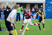 Northampton Town Striker Ricky Holmes is fouled by Morecambe Defender Laurence Wilson during the Sky Bet League 2 match between Northampton Town and Morecambe at Sixfields Stadium, Northampton, England on 23 January 2016. Photo by Dennis Goodwin.