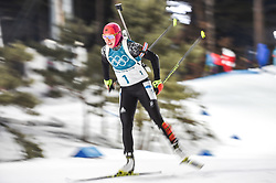 February 12, 2018 - Pyeongchang, Gangwon, South Korea - Laura Dahlmeier of Germany  competing at Women's 10km Pursuit, Biathlon, at olympics at Alpensia biathlon stadium, Pyeongchang, South Korea. on February 12, 2018. (Credit Image: © Ulrik Pedersen/NurPhoto via ZUMA Press)