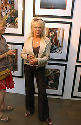 PATTI BOYD  at an exhibition of photographs by David Montgomery entitled 'Shutterbug' held at Scream, 34 Bruton Street, London W1 on 13th July 2006.<br /><br />NON EXCLUSIVE - WORLD RIGHTS