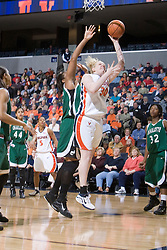 Virginia Cavaliers Forward/Center Abby Robertson (30) puts up a shot against Charlotte.  The Virginia Cavaliers women's basketball team defeated The University of North Carolina - Charlotte 49ers 74-72 in the 2nd round of the Women's NIT at John Paul Jones Arena in Charlottesville, VA on March 19, 2007.