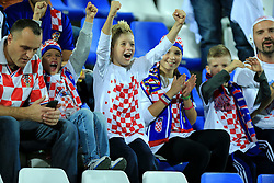 13.10.2014, Stadion Gradski vrt, Osijek, CRO, UEFA Euro Qualifikation, Kroatien vs Aserbaidschan, Gruppe H, im Bild Croatian supporters // during the UEFA EURO 2016 Qualifier group H match between Croatia and Azerbaijan at the Stadion Gradski vrt in Osijek, Croatia on 2014/10/13. EXPA Pictures © 2014, PhotoCredit: EXPA/ Pixsell/ Davor Javorovic<br /> <br /> *****ATTENTION - for AUT, SLO, SUI, SWE, ITA, FRA only*****