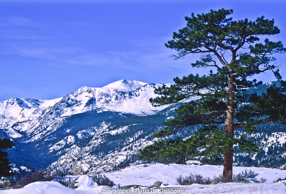 12,978 ft. Stones Peak as viewed from Moraine Park, Rocky Mountain National Park, Colorado.