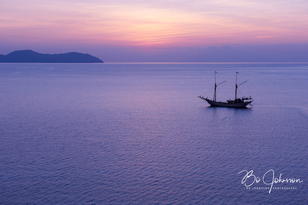 Evening view from Gili Lawua Laut.<br /> Komodo, Indonesia.<br /> July 2011.