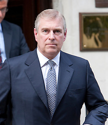 © Licensed to London News Pictures. 06/06/2012. London, U.K..Prince Andrew, Duke of York leaves the King Edward VII hospital in Marylebone, London this evening 6th June 2012 after visiting his Father Prince Philip who was taken ill with a bladder infection on Monday 4th June during the Jubilee weekend Celebrations..Photo credit : Rich Bowen/LNP