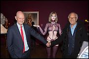 ALLEN JONES; DAVID MONTGOMERY, Allen Jones private view. Royal Academy,  London. 11 November  2014.