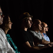 APRIL 14, 2018--MIAMI, FLORIDA<br /> The audience takes in Colombian artist Maria Jos&eacute; Arjona performance of her piece All the Others in Me. The show, organized by the Museum of Art and Design, Miami Dade College and curated by Rina Carvajal and Joseph Wolin. The venue was the Light Box at Goldman Warehouse in Wynwood.<br /> (PHOTO BY ANGELVALENTIN/FREELANCE)