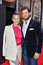 PRINCE CASIMIR ZU SAYN WITTGENSTEIN  and ALANAH BUNTE at the launch of the new Bulgari flagship store at 168 New Bond Street, London on 14th April 2016.