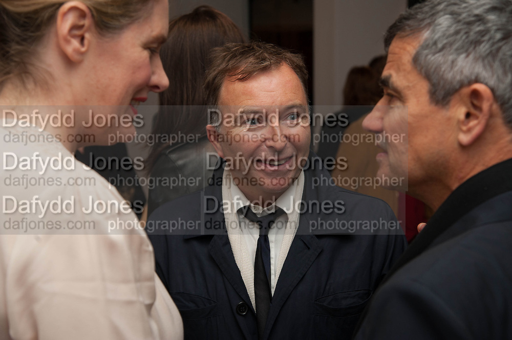 PHILOMENE MAGERS; TONY CHAMBERS; HARRY HANDLESMAN, Opening of Morris Lewis: Cyprien Gaillard. From Wings to Fins, Sprüth Magers London Grafton St. London. Afterwards dinner at Simpson's-in-the-Strand hosted by Monika Spruth and Philomene Magers.