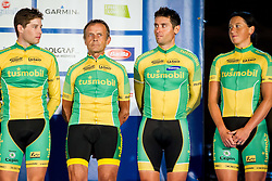 Third placed team of  Slovenia during Team Relay medal ceremony of Team Relay at UCI World Cycling Tour Final, on August 29, 2014 in Kongresni trg, Ljubljana, Slovenia. Photo by Vid Ponikvar / Sportida.com