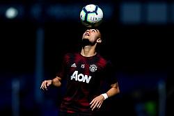 Andreas Pereira of Manchester United balances a ball on his head - Mandatory by-line: Robbie Stephenson/JMP - 21/04/2019 - FOOTBALL - Goodison Park - Liverpool, England - Everton v Manchester United - Premier League