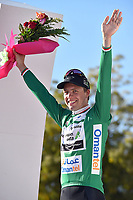 Podium, BOASSON HAGEN Edvald (NOR) Dimension Data, Green Sprint Jersey, winner, during the 7th Tour of Oman 2016, Stage 5, Yiti (Al Sifah) - Ministry of Tourism (119,5Km) on February 20, 2016 - Photo Tim de Waele / DPPI