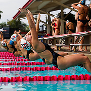 19 January 2018: The San Diego State women's swim &amp; dive team hosted USD for its final home match of the season.<br />  More game action at www.sdsuaztecphotos.com