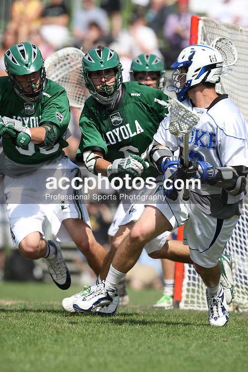 10 May 2008: Loyola Greyhounds midfielder Bobby Caetta (6) in a 7-12 loss to the Duke Blue Devils during the NCAA First Round at Koskinen Stadium in Durham, NC.