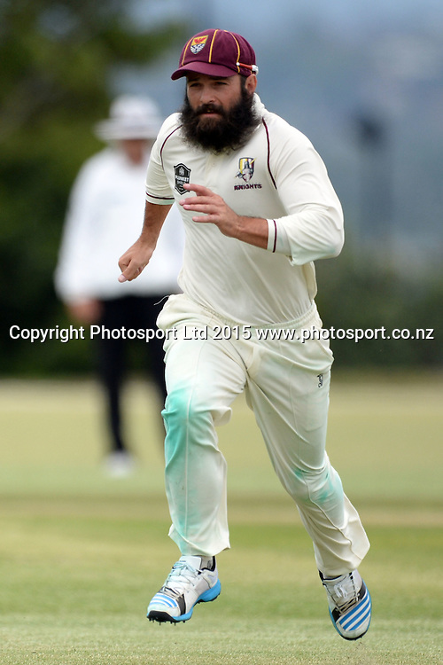 Northern DIstricts player Anton Devichch in pursuit of a ball to the boundary. Plunket Shield. 4 Day match between Auckland and Northern Districts at Colin Maiden Park in Auckland. New Zealand. Sunday 08 February 2015. Copyright Photo: Raghavan Venugopal/www.photosport.co.nz