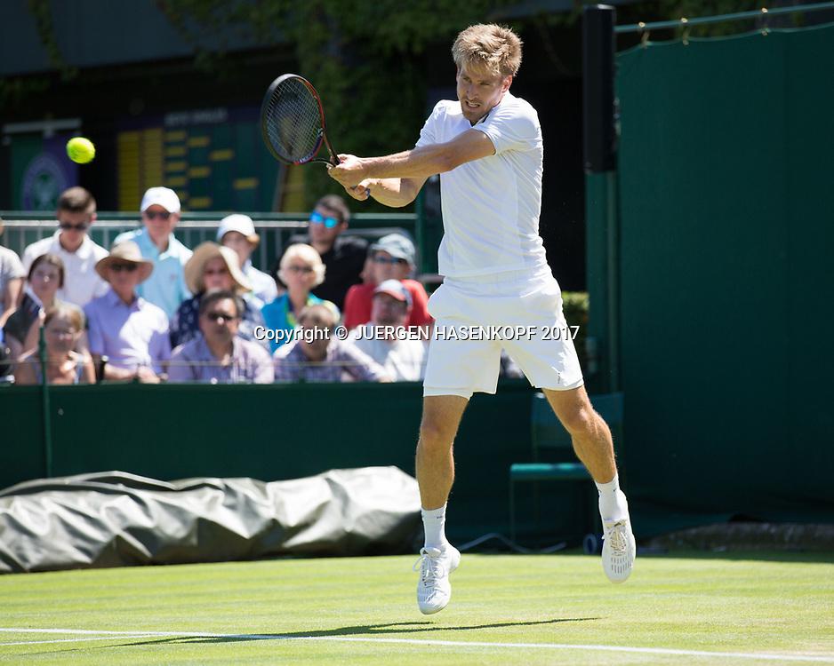 PETER GOJOWCZYK (GER), Zuschauer Tribuene,<br /> <br /> Tennis - Wimbledon 2016 - Grand Slam ITF / ATP / WTA -  AELTC - London -  - Great Britain  - 5 July 2017.