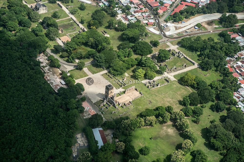Aerial view of Panama Viejo, Panama.