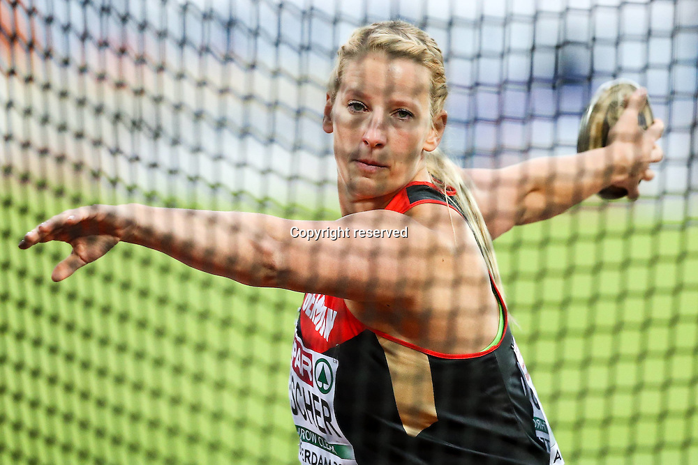 08.07.2016. Amsterdam, Holland. The European Athletics Championships.  Julia Fischer (GER) womens discus