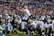 an NFL football game in Charlotte, NC, Thursday, Oct. 30, 2014. (AP Photo/Mike McCarn)