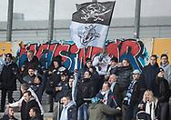 FODBOLD: Fans fra FC Helsingør før kampen i ALKA Superligaen mellem FC Helsingør og AC Horsens den 18. februar 2018 på Right to Dream Park i Farum. Foto: Claus Birch.