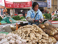 food market in Lhasa, Tibet