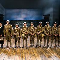 First Light by Mark Hayhurst<br /> Directed by Jonathan Munby<br /> Phil Davis as George Ingham<br /> Amelda Brown as Eliza Ingham<br /> Kelly Price as Agnes Ingham<br /> Andrew Westfield as Company Serg Major Deakin<br /> Tom Gill as Bert<br /> David Moorst as Alfie<br /> Alex Jordan as soldier<br /> Niall McNamee as soldier<br /> Sam Phillips as soldier<br /> Tim Preston as soldier<br /> Edward Sayer as soldier<br /> Freddie Watkins as soldier<br /> Minerva Theatre, Chichester Festival Theatre, UK<br /> 15 June 2016