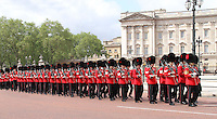 LONDON - JUNE 16: The Coldstream Guards attend Trooping The Colour, Buckingham Palace, London, UK. June 16, 2012. (photo by piQtured)
