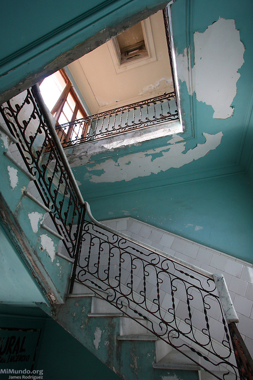 Stairwell. Cienfuegos, Cuba. January 2009.