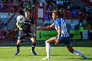 Ji So-Yun (Chelsea) & Victoria Williams (Brighton) during the FA Women's Super League match between Brighton and Hove Albion Women and Chelsea at The People's Pension Stadium, Crawley, England on 15 September 2019.