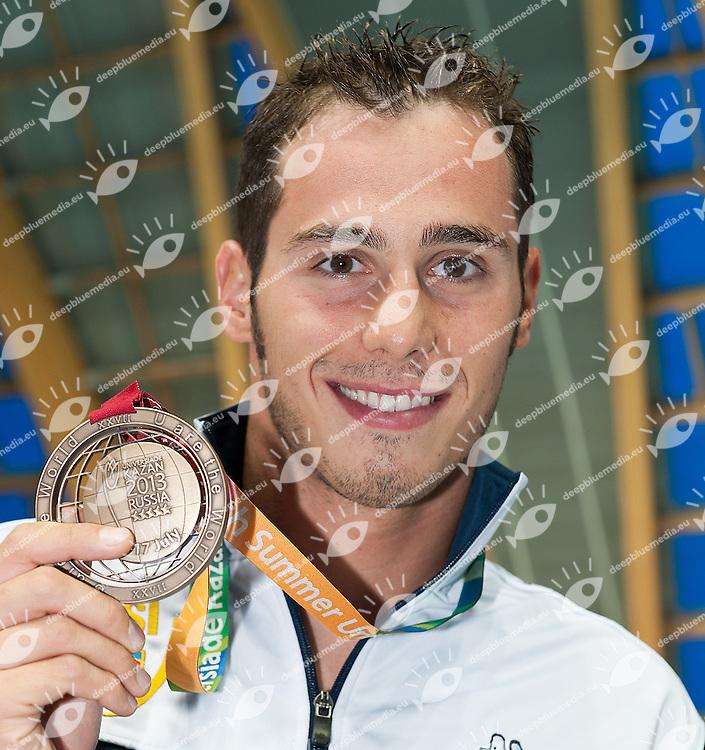 Codia Piero Italy ITA<br /> 50 butterfly men<br /> bronze medal<br /> 27th Summer Universiade <br /> 5 - 17 July 2013 Kazan Tatarstan Russia<br /> Day 07 Swimming finals<br /> Photo G. Scala/Insidefoto/Deepbluemedia.eu