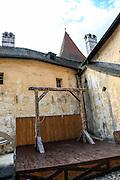 Gallows, Orava Castle, Oravský Podzámok, Slovakia.