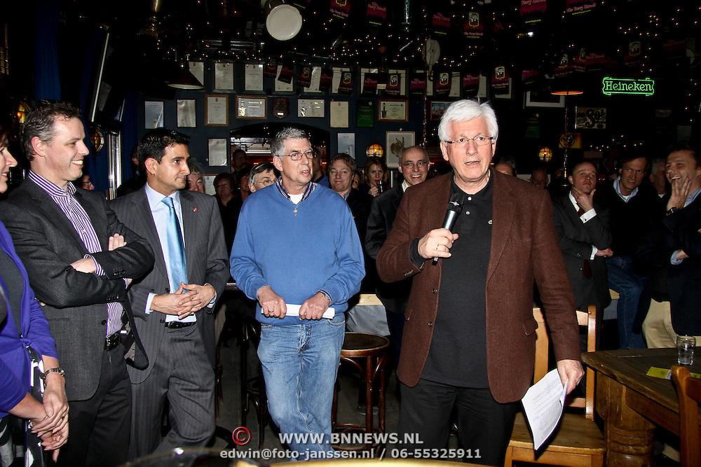 NLD/Huizen/20100102 - Politiek Café, Joop Daalmeijer interviewt diverse lijsttrekkers van verschillende politieke partijen